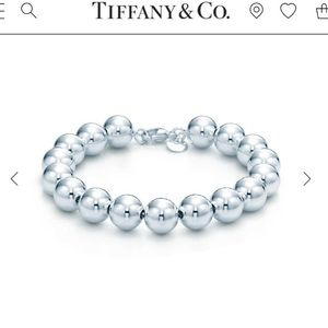 TIFFANY AND CO STERLING SILVER BEAD BRACELET!